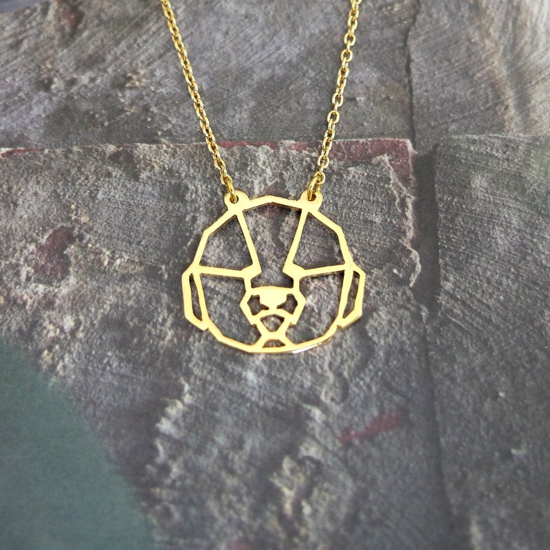 Bichon Frise, Dog Necklace, Geometric necklace, Dog Lover, Dog gifts