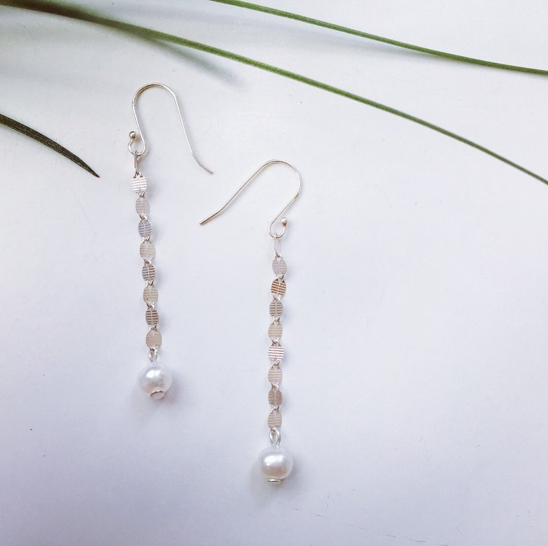 925 sterling silver [natural farming pearl design earrings]