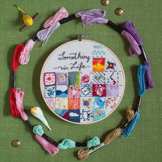 "Handmade embroidery box gift - ""Something in Life"" - full hand production"