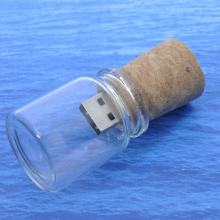 Bottle CITIC styling pen drive 128GB + single-sided ray carving