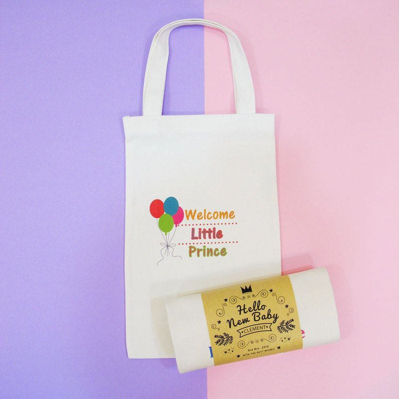 Sweet portable cotton canvas bag - years old, the Mi small things - a color balloon