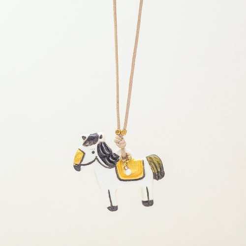 a little horse handmade woman fashion necklace from Niyome clay