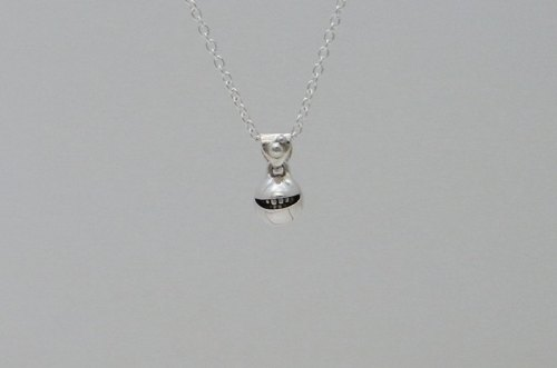 "smile jewelry necklace pendant sterling silver ball "" smile ball nano pendant【type:normal】"" s_m-P.74 ( 细小 微笑 銀 垂饰 颈链 项链 )"