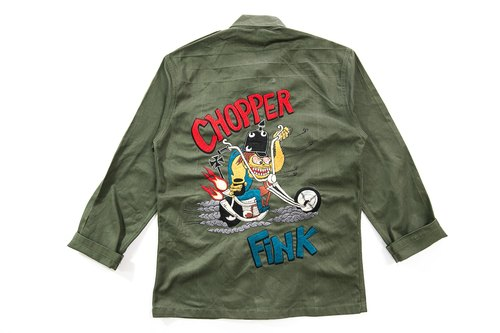 [3thclub MINGREN tong] RAT FINK uniform shirt embroidery mice Fink chopper RF-001