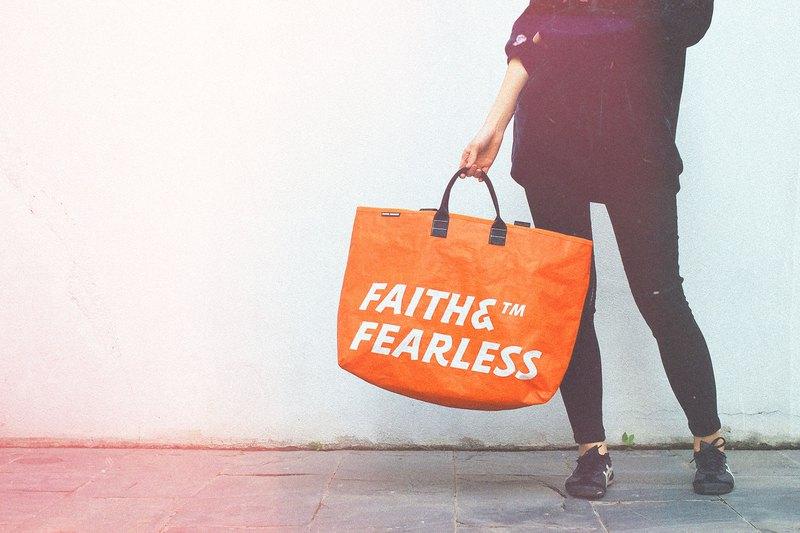 Faith & Fearless Pop Bag袋_香橙色