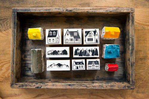 Somewhere Someone DIY Rubber Stamp Set - OURS Color Atelier Series