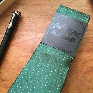 The GENT Emerald Green White Dot Neck Tie