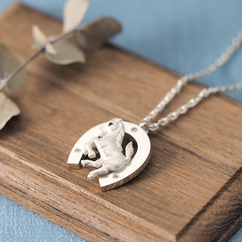 Horses + horseshoes Men's necklace 925 Silver