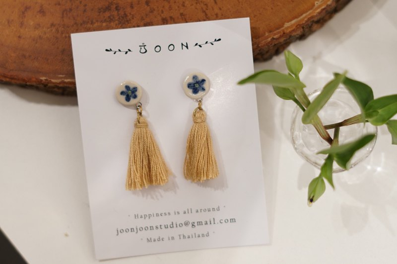 blue square earring