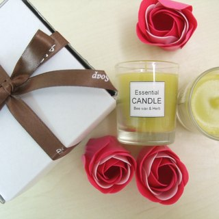 Natural beeswax essential oil candle