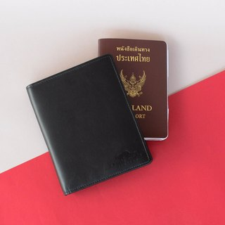 ANDA - ITALIAN LEATHER PASSPORT COVER/WALLET-BLACK