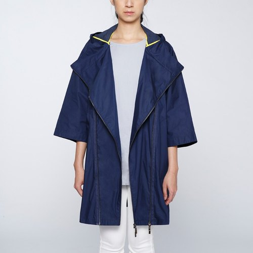 CA Ama Jacket Coating Cape - blue