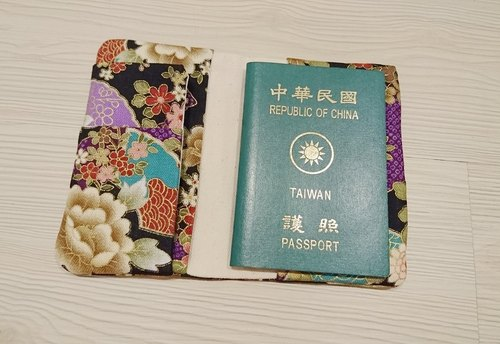 Travel Passport Cover Book Japanese clothing foil stamping