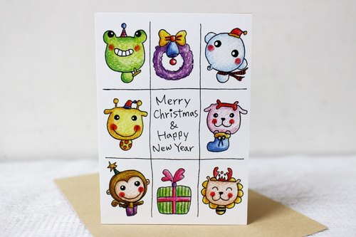 Illustration large card _ Christmas Card / New Year's card (Jiugongge)