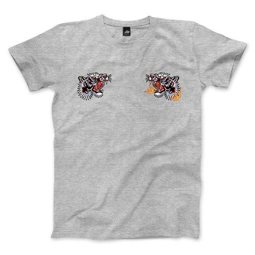 Tiger Fist - Deep Heather Grey - Unisex T-Shirt