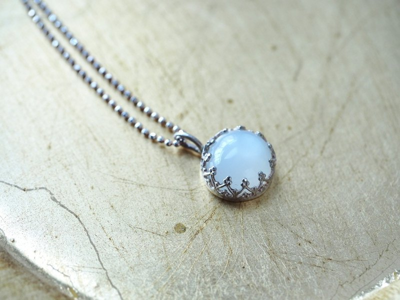 [Maya Tara] cat eye moonstone moonstone ム ンスト ンスト ン sterling silver necklace
