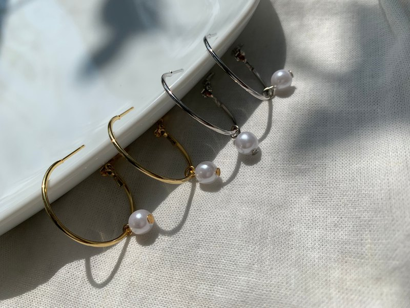 Fasten | Pearl Earrings