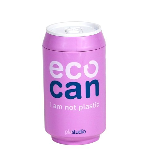 PLAStudio - Creative Design - Green Eco Cup - ECO CAN Purple -280ml - Christmas Project
