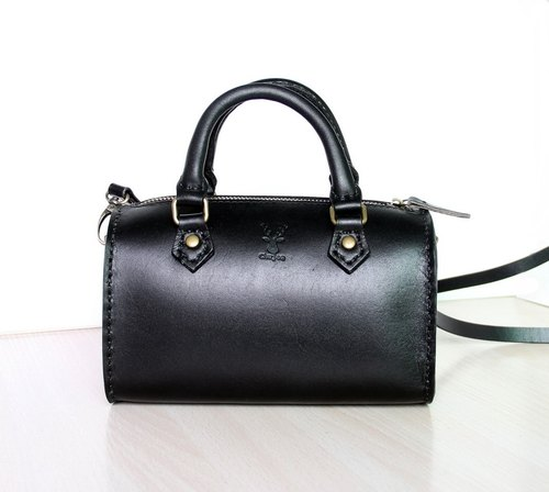 Retro mini buns, Sen Department of vegetable tanned leather ladies bag, shoulder bag Messenger