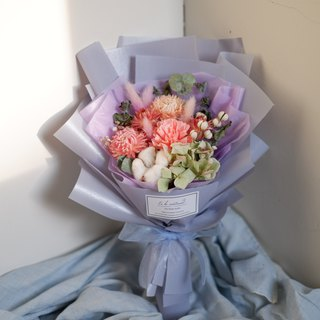 To Be Continued | Mother's Day Limited Pink Purple Series Carnation Dry Flowers Romantic Korean Bouquet (Manual Carnation Flower Version)