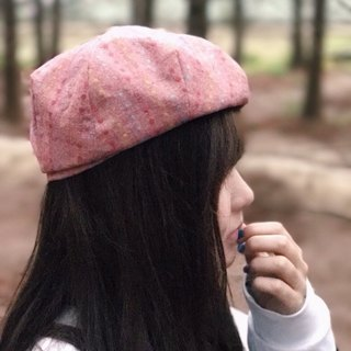 No friends alone / / hand-made cap material / Japan's cloth berets cap - little footprints