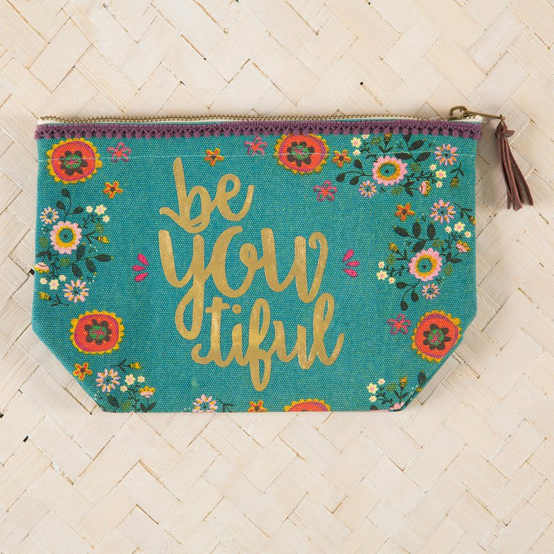 Canvas cosmetic bag-BeYouTiful∣BAG225