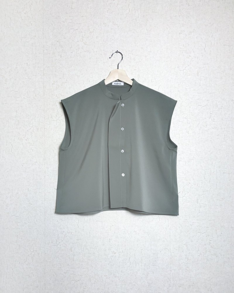 Oliver Colour Sleeveless  Oversize Button Top