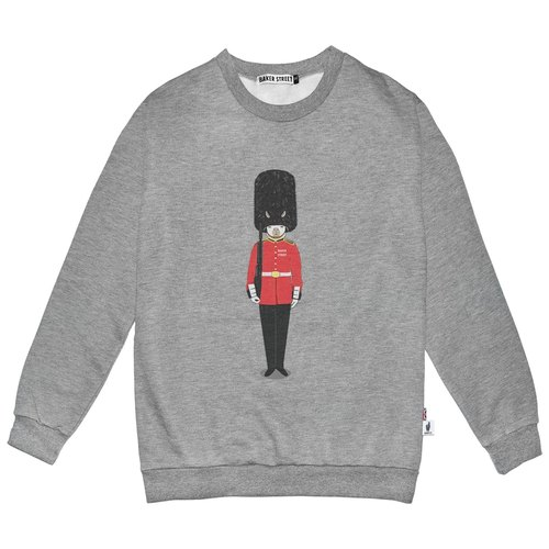 British Fashion Brand [Baker Street] Grenadier Guards Printed Sweater