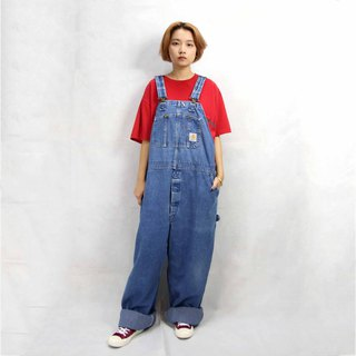 Tsubasa.Y vintage house Carhartt brand denim suspenders 010, denim suspenders