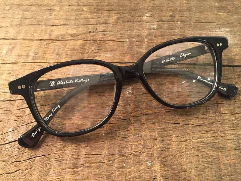 Absolute Vintage - Elgin Street (Elgin Street) rectangular frame plate glasses Young - Black Black