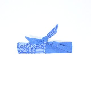 【The MAMA's Closet】Two Colors Denim Cotton (Geometry) / Classic Headband