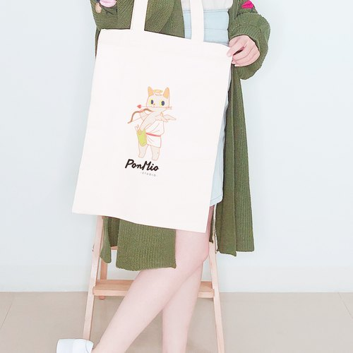 Qiu than meow - Shoulder canvas bag
