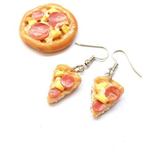 Earrings bacon pizza