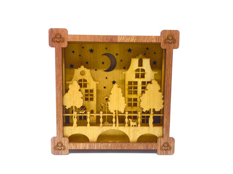 Design Decoration (Landscape / Big Buddha Picture Frame) DIY Wood Veneer Puzzle Home Life