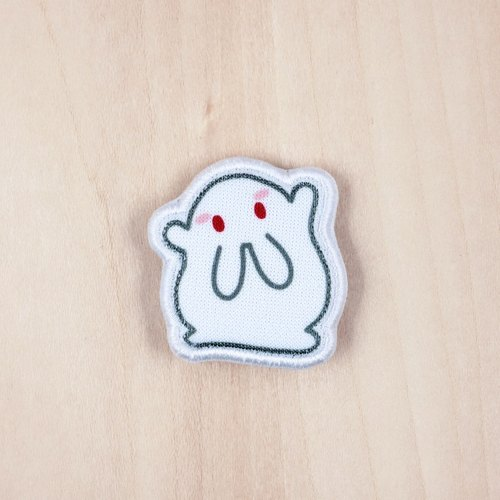 Milky rice fried rice cake cloth rabbit brooch / badge (BH002C)