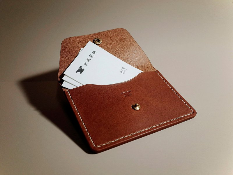 Buttero _ Leather Card Holder (3 colors / engraving service)