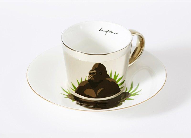 Luycho 鏡面倒影杯組 咖啡杯 _ 猩猩