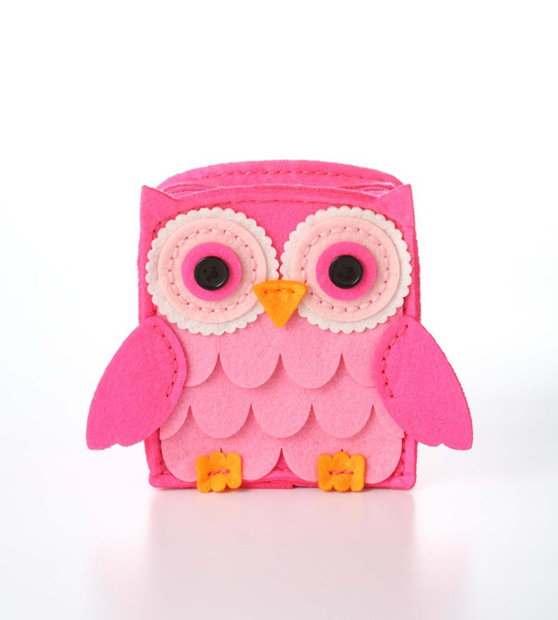Fairy Land [Material Pack] Owl Multi-function Storage Bag - Fang Taohong