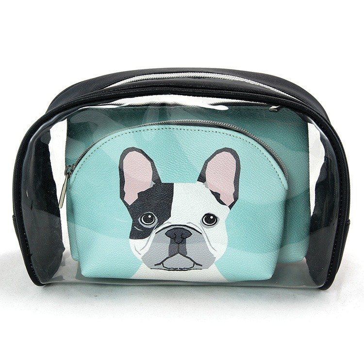 French Bull Dogs Cosmetic Bags Set