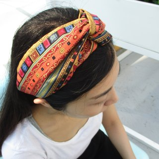 Cross hair band (elastic hand) - Nepal - orange
