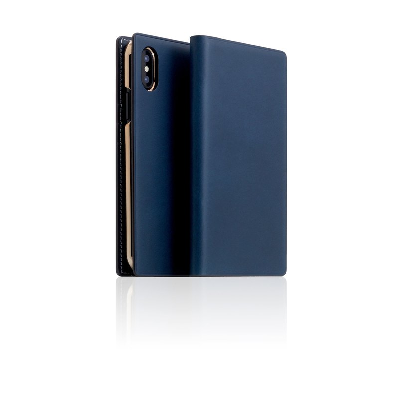 SLG Design iPhone Xs / X D7 IBL Exquisite Collection Premium Leather Case - Blue