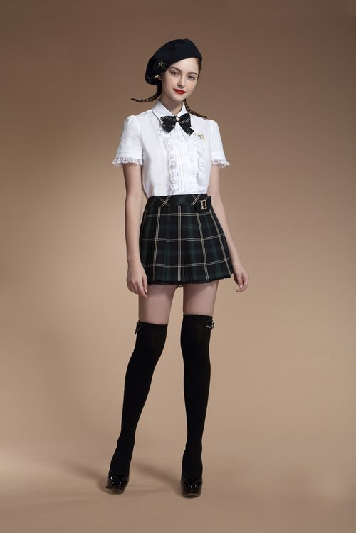 Classic pleated panty skirt