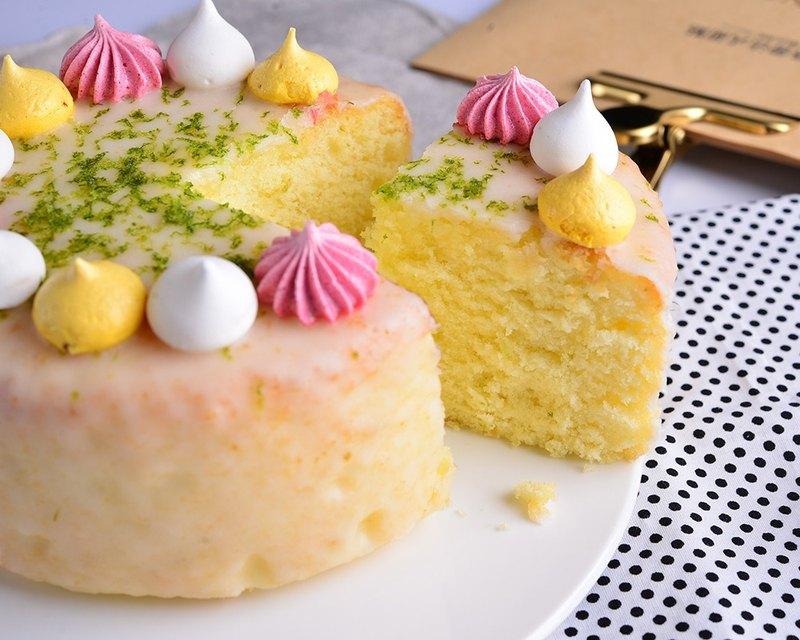 【送小熊盤叉】黃澄澄檸檬蛋糕 /6吋 生日蛋糕 節慶蛋糕 彌月禮盒