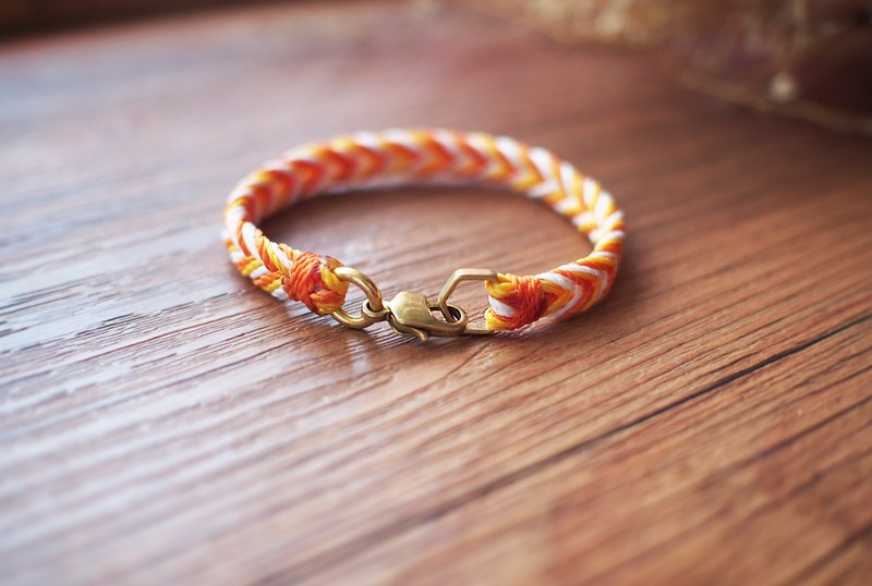 Waterproof - spray - brass bracelet silk wax thread braided bracelet