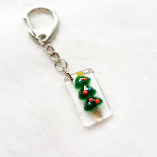 Christmas limited A-colorful Christmas tree key ring