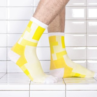 Yellow Building Block Cooling Socks