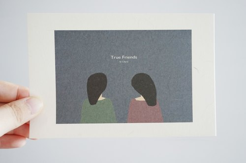 True Friends- Postcard/card