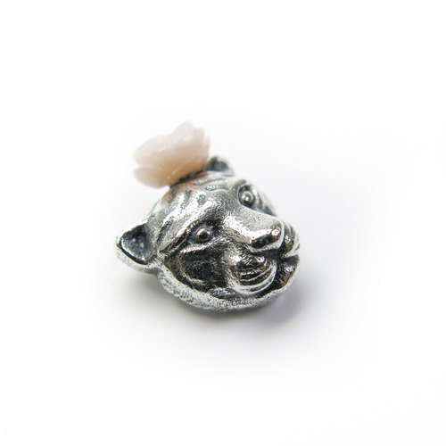 ◂ READ Dazzling ies Tigers Flavored Rose | Pink Mother Pendant 925 Sterling Silver Pendant Gentle and delicate