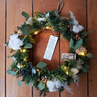 Grassy Forest Christmas Wreath | Christmas Gifts | (Dryable Wreath) Taipei