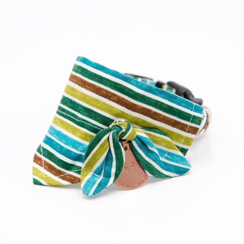 【Momoji】 Pet Collar with Scarf - Rainbow